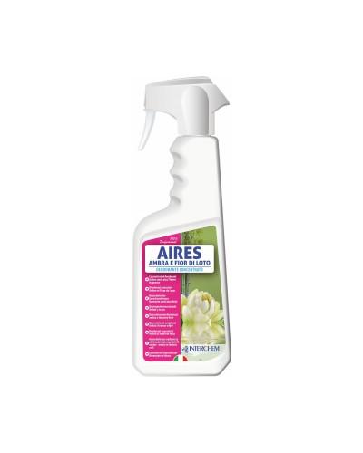 Deodorante Ambienti Aires Ambra e Fior di Loto 750 ml Interchem