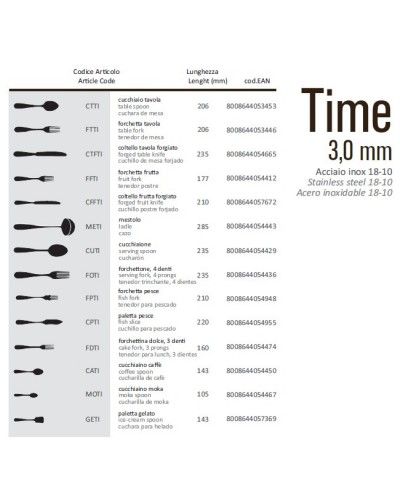 FORCHETTONE PER SERVIRE TIME ACCIAIO INOX 18/10 23,5 cm
