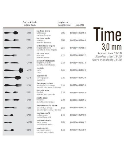 COLTELLO TAVOLA FORGIATO TIME ACCIAIO INOX 18/10 23,5 cm