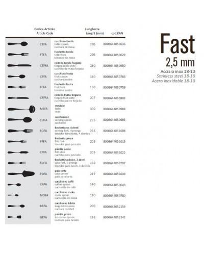 CUCCHIAINO PALETTA GELATO FAST 13,6 cm ACCIAIO INOX 18/10