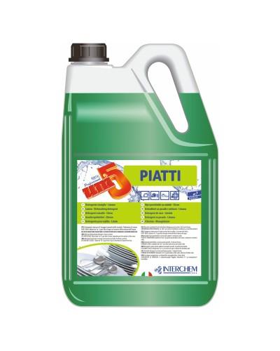 Detergente Piatti a Mano al Limone Professionale Uni5 5 kg Interchem