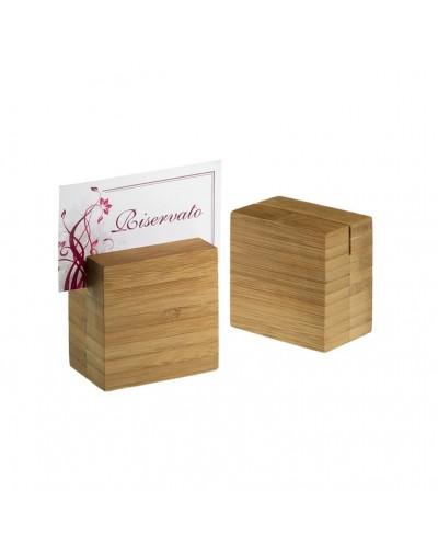 Set 6 Portanumero da Tavolo Bamboo per Ristorante Leone