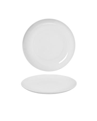 Piatto Dessert Piano EO Bianco in Porcellana Ø 21 cm Gural