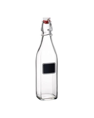 Bottiglia Vetro Swing Quadrata con Lavagna 0,5 lt Bormioli