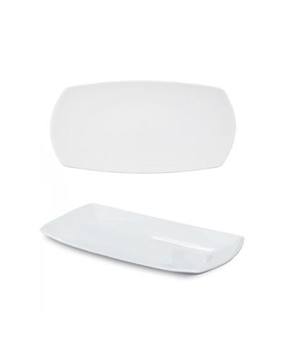 Piatto Portata Piano Tokio Bianco in Porcellana 36x21 cm Saturnia
