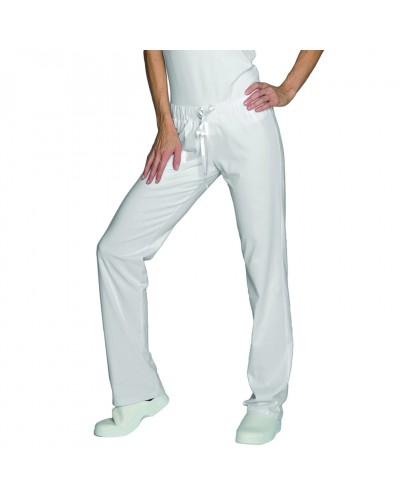 Pantalone Donna Jersey Bianco con elastico Isacco