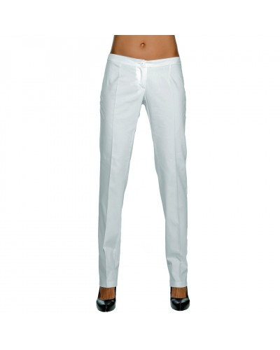Pantalone Donna Slim Bianco in Cotone Tg. 46 Isacco