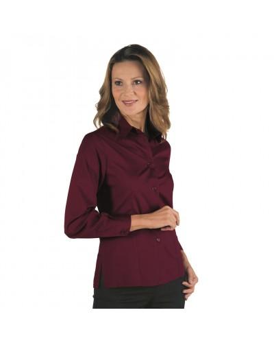 Camicia Donna Kyoto Bordeaux a manica lunga Isacco