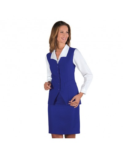 Gilet Donna Blu Cina in poliestere Isacco