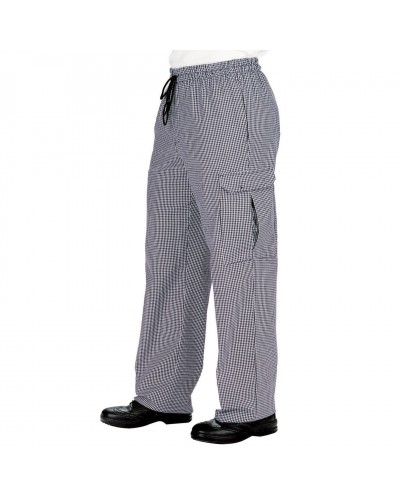 PANTALONE CUOCO PIED DE POULE TG. 4XL OVER SIZE ISACCO