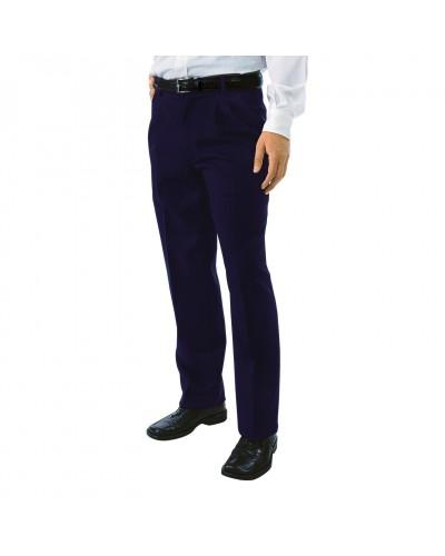 Pantalone Uomo da Sala Blu 2 Pinces Tg, 54 Isacco