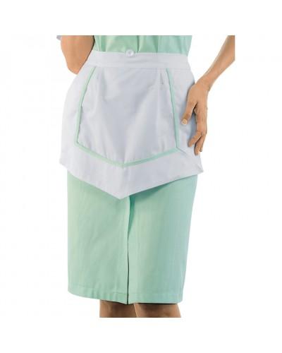 Grembiule Donna delle Pulizie Zurigo Bianco e Verde Isacco