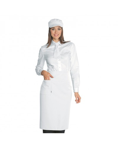 Grembiule Cameriere Dakar Bianco 100x70 cm Isacco