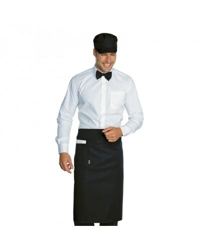 Grembiule Cameriere Dakar Nero 100x70 cm Isacco