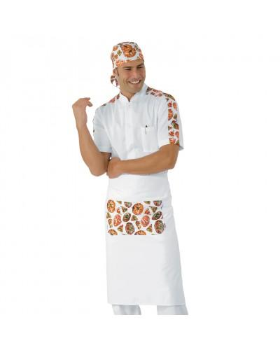 Grembiule Le mans Bianco Pizza