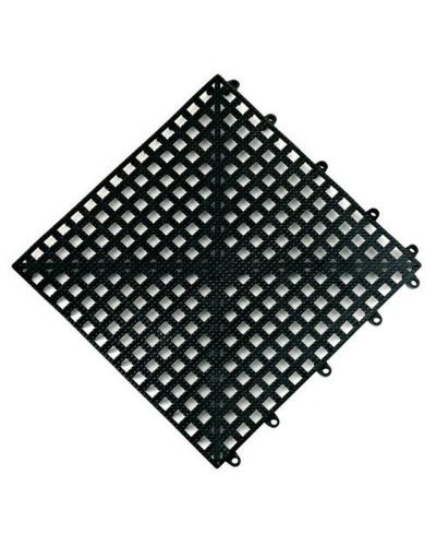 Tappetino bar antiscivolo componibile nero 33x33 cm the bars