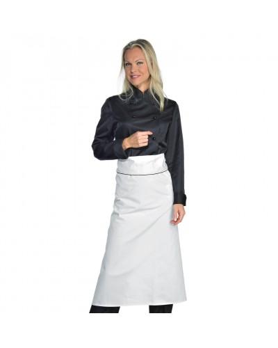 Giacca Cuoca Donna Lady Chef Nera a manica lunga Isacco