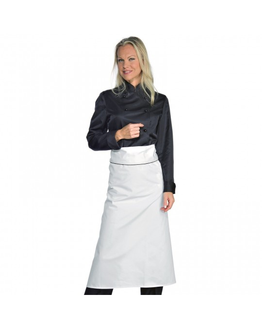 wholesale dealer 91c62 aba8a Giacca Cuoca Donna Lady Chef Nera a manica lunga Isacco
