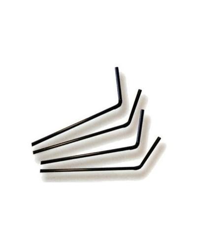 Confezione da 250 Cannucce Nere Pieghevoli da 24,5 cm