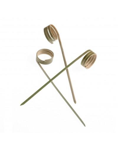 Spiedi Ricciolo Bamboo 12 cm 100 pz per Finger Food Leone
