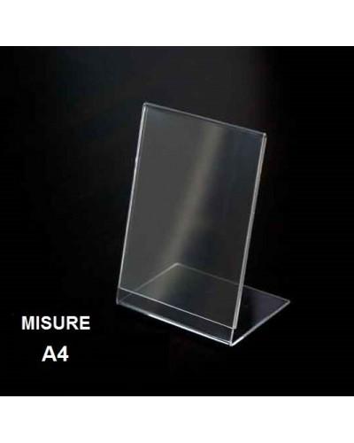 Espositore a L in plexiglass formato A4 Leone supporto annunci prezzi menu bar