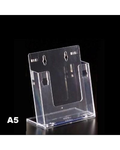 Espositore porta depliant A5 in plexiglass Leone