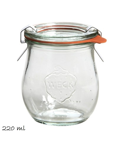 BARATTOLO JARS IN VETRO CON COPERCHIO 220ML WECK COCKTAIL CONSERVA MARMELLATA