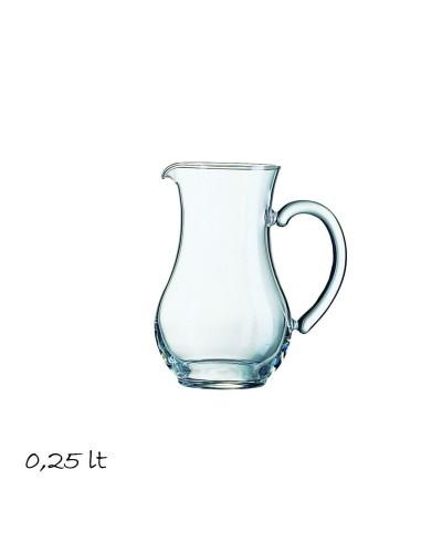 Caraffa Pichet da 0,25 lt in Vetro Arcoroc per Acqua e Vino
