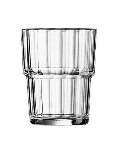 Set 6 pz Bicchieri Acqua Vino Bibite Norvege 20 cl Impilabili Arcoroc