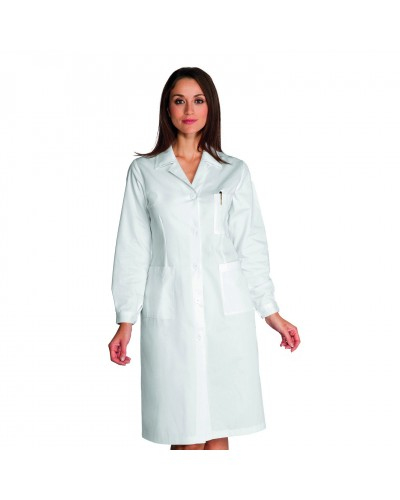 Camice Donna Bianco Cotone Isacco