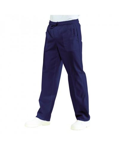 Pantalone blu con elastico cotone Isacco