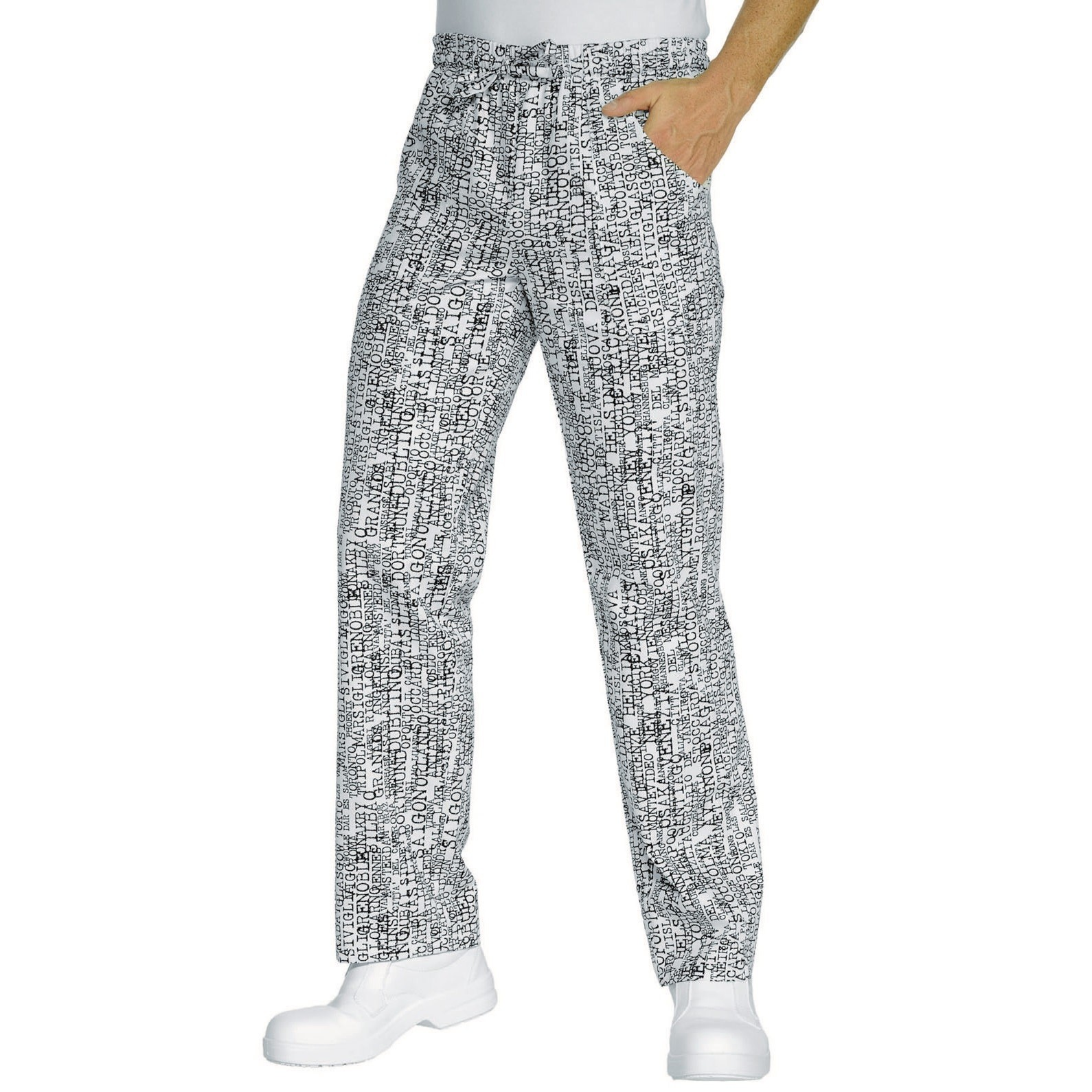 100/% Cotone Bianco XXL Isacco Pantalone con elastico Bianco 190 gr//m/²