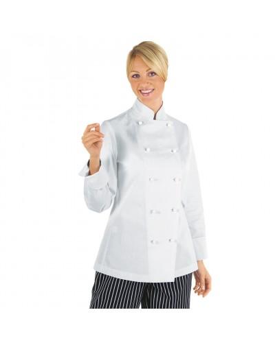 Giacca cuoco donna Lady chef Cotone Isacco