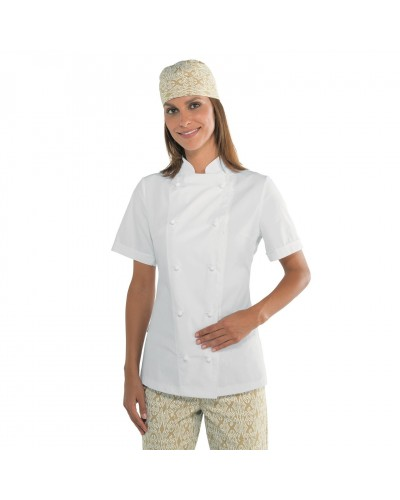 Giacca cuoco donna Lady Extralight Bianca in misto cotone Isacco