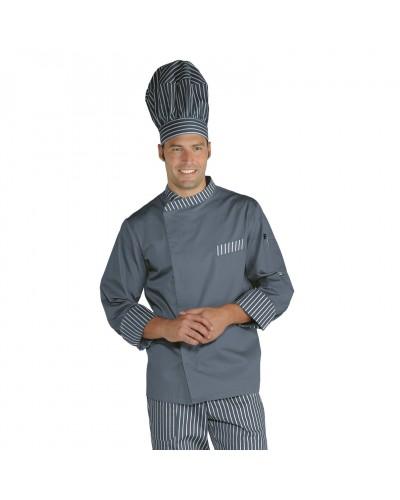 Giacca cuoco Durango Grigia e Londra12 in misto cotone Isacco