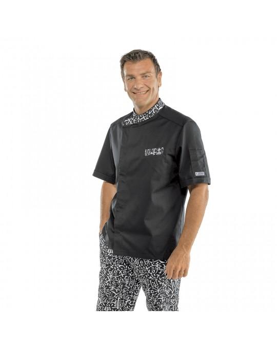 giacca cuoco nera cotone