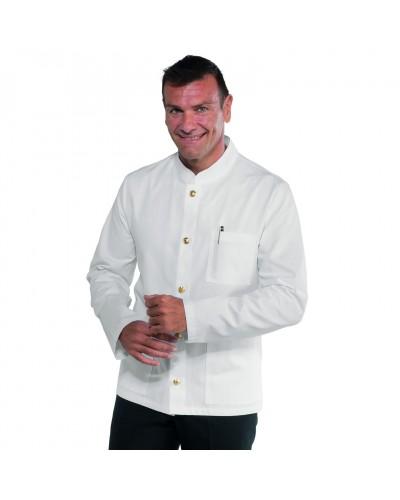 Giacca Coreana Rasatello Bianca in cotone Isacco