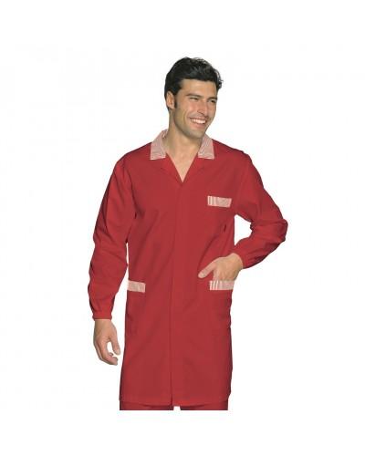 Camice Uomo Toronto Rosso in misto cotone Isacco