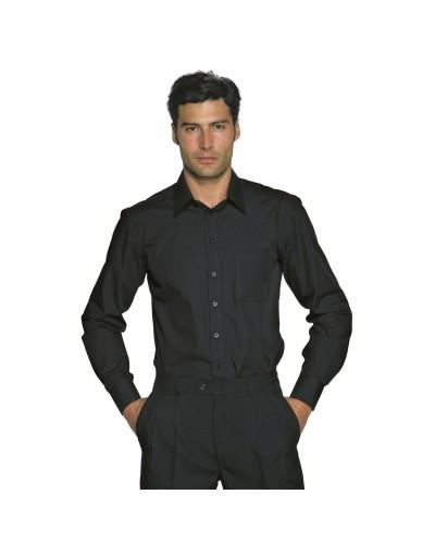 Camicia Uomo Cartagena Nera in misto cotone Isacco