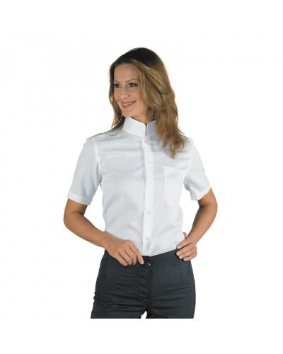 Camicia Unisex Dublino Bianca in misto cotone a manica corta Isacco