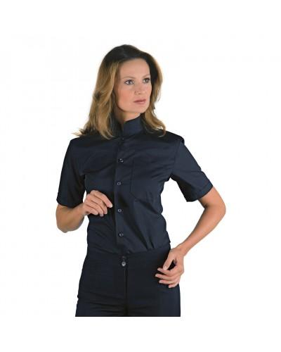 Camicia Unisex Dublino Nera in misto cotone a manica corta Isacco