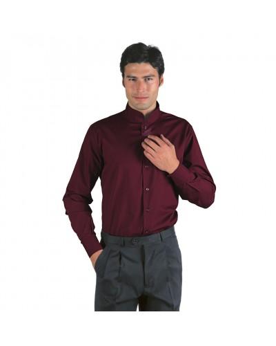 Camicia Unisex Dublino Bordeaux in misto cotone Isacco