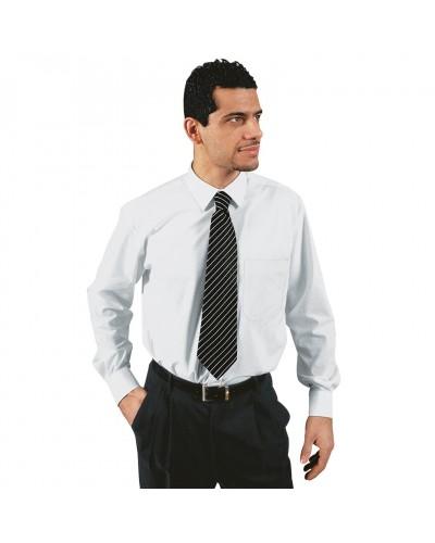 Camicia Uomo Bianca in misto cotone con taschino Isacco