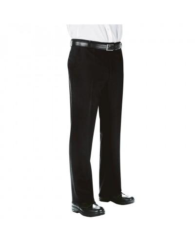 Pantalone Uomo Senza Pinces Nero in Poliestere Isacco