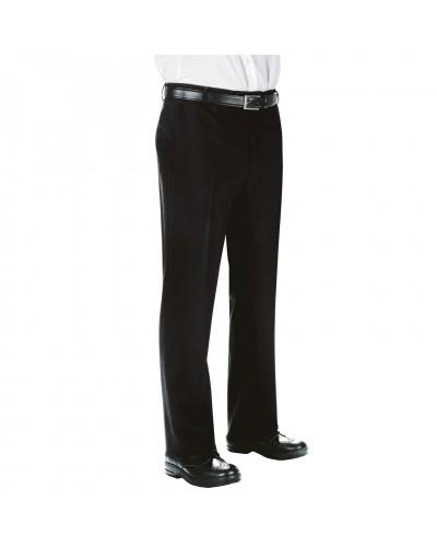 Pantalone Uomo Super Fresco Nero in Poliestere Isacco