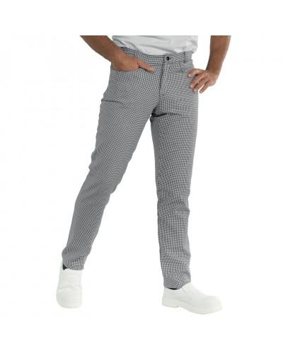 Pantalone Cuoco Yale Slim Fit Pied De Poule in cotone Isacco