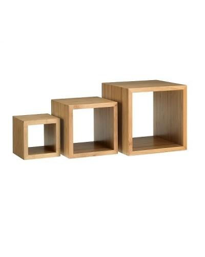 Set Cubo 3 Alzate Espositore Buffet Bamboo