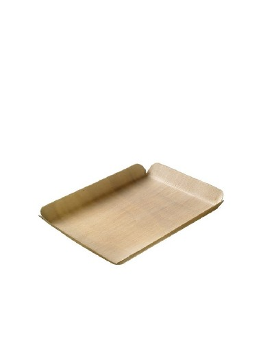Piatto in Balsa Rettangolare da 21x10,5 cm 24 pz
