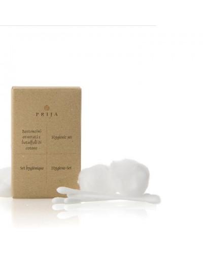 Set igienico cotton fioc e batuffoli Prija 100 pz GFl