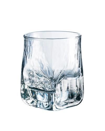 Set 6 pz Bicchieri Whisky Liquori Durobor Quartz 33cl Vetro Martellato